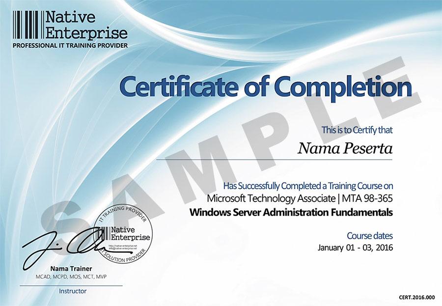 Training dan Pelatihan MTA (Microsoft Technology Associate)