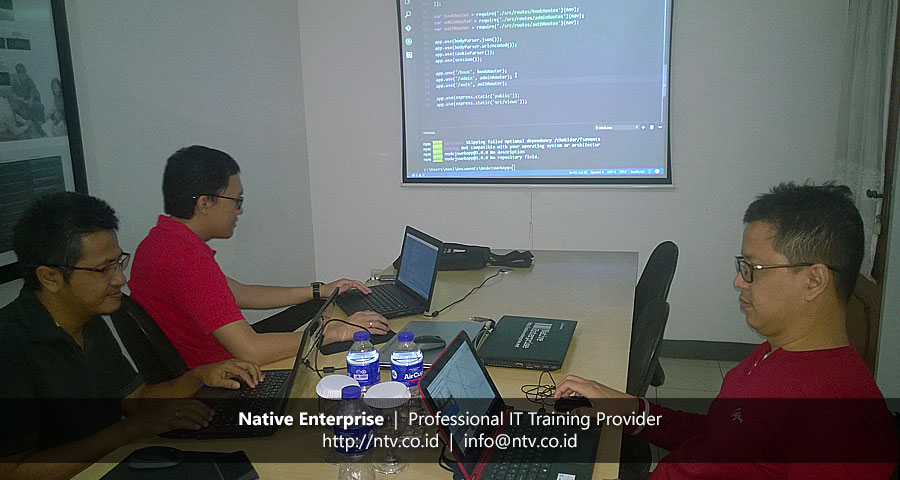"Weekend Training ""Node.js Express and MongoDB"" bersama Intikom dan Personal"