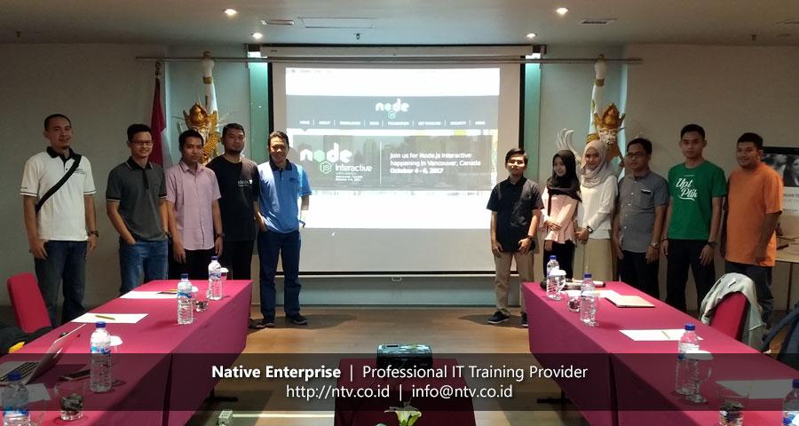"In-House Training ""Web App Development using Node.js Express and MongoDB"" bersama Universitas Lambung Mangkurat"
