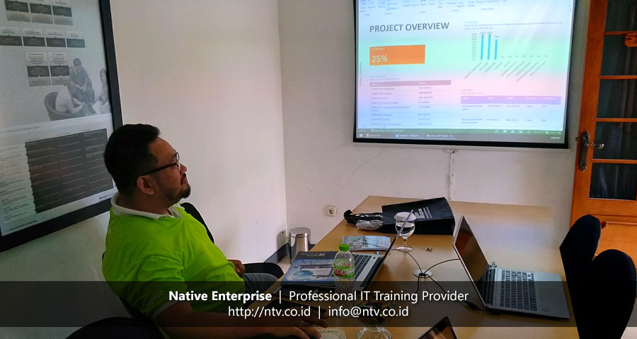 "Training ""Managing Projects using Microsoft Project Desktop"" bersama PT SMI"