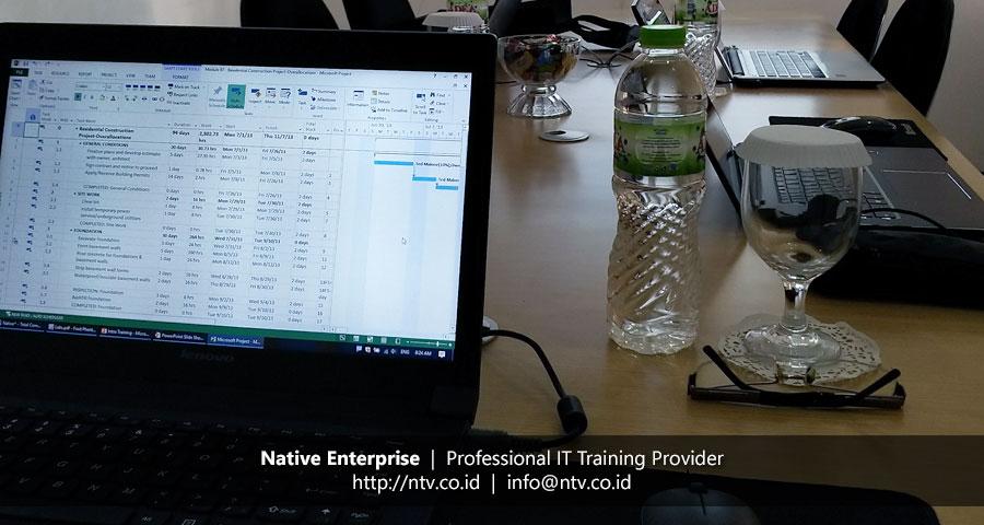 "Training ""Managing Projects using Microsoft Project Desktop"" bersama PT SMI"