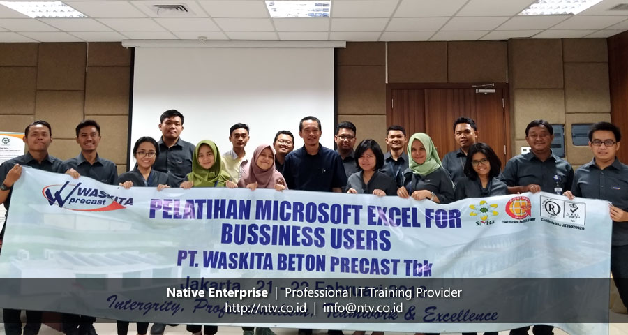 In-House Training Excel Advanced Level for Business Users bersama Waskita Beton Precast