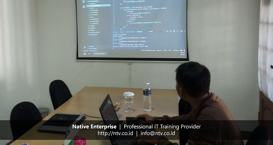 "Training ""Web App Development using Node.js Express and MongoDB"" bersama Panasonic"