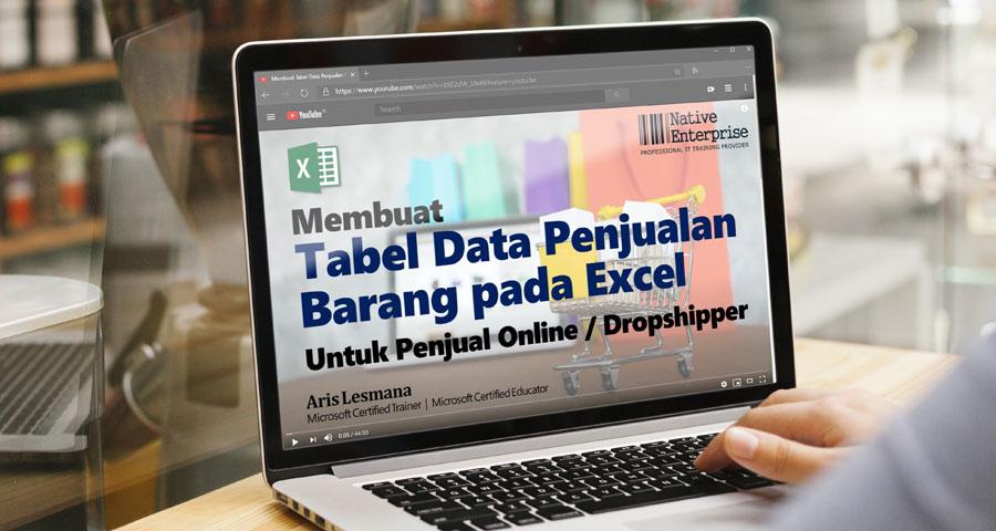 Tutorial Membuat Tabel Data Penjualan pada Excel