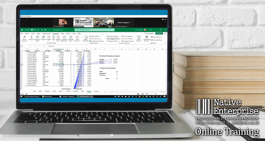 """Online Training """"Excel Advanced for Business Users"""" bersama PT Indonesia Chemical Alumina"""